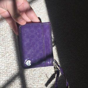 Purple coach id wallet